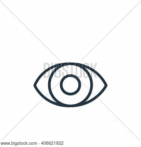 eye icon isolated on white background from health and protection collection. eye icon thin line outl
