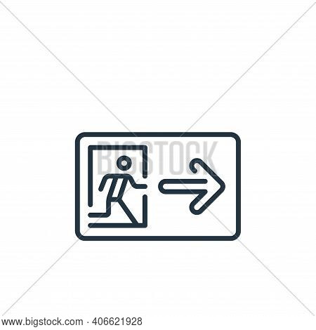 exit icon isolated on white background from mall collection. exit icon thin line outline linear exit
