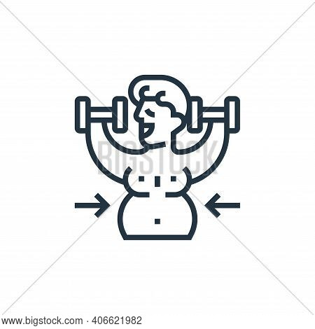 exercise icon isolated on white background from fitness collection. exercise icon thin line outline