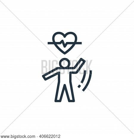 exercise icon isolated on white background from work life balance collection. exercise icon thin lin