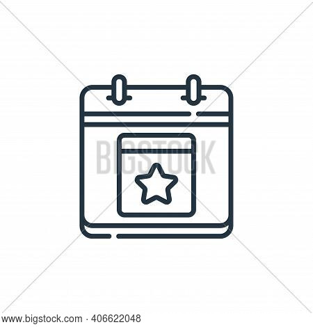 event icon isolated on white background from calendar and date collection. event icon thin line outl