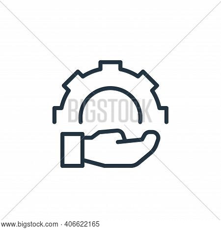 engineering icon isolated on white background from engineering collection. engineering icon thin lin