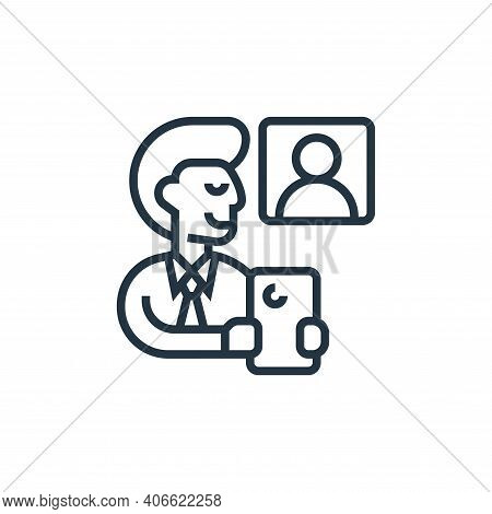 employee icon isolated on white background from confidential information collection. employee icon t