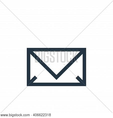 email icon isolated on white background from web essentials collection. email icon thin line outline