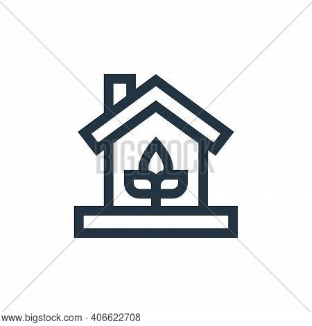 eco house icon isolated on white background from mother earth day collection. eco house icon thin li
