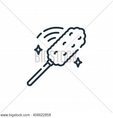duster icon isolated on white background from cleaning collection. duster icon thin line outline lin