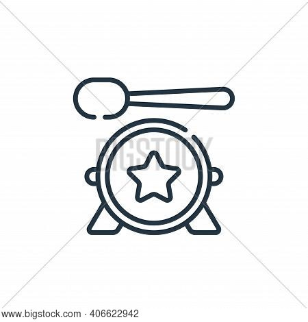 drum icon isolated on white background from music collection. drum icon thin line outline linear dru
