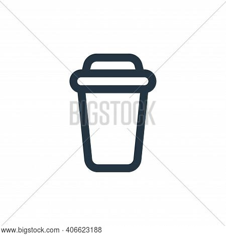 drink icon isolated on white background from food collection. drink icon thin line outline linear dr