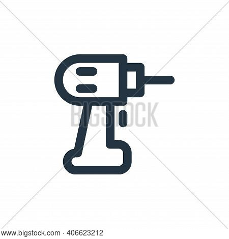 drilling machine icon isolated on white background from labour day collection. drilling machine icon