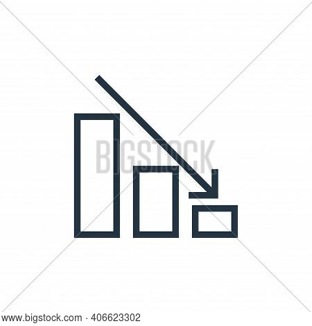 down icon isolated on white background from finance collection. down icon thin line outline linear d