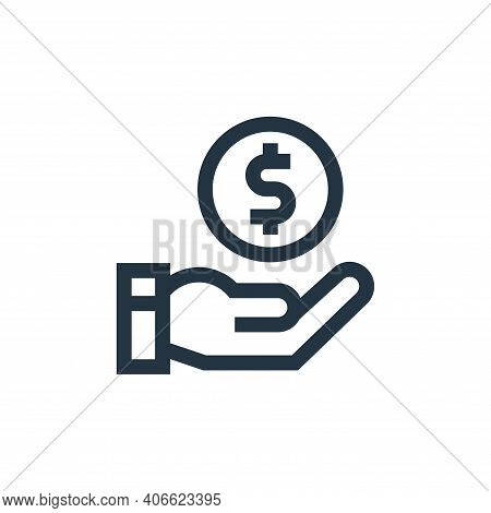 donation icon isolated on white background from charity collection. donation icon thin line outline