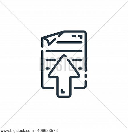 document icon isolated on white background from user interface collection. document icon thin line o
