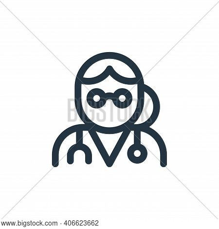 doctor icon isolated on white background from health collection. doctor icon thin line outline linea