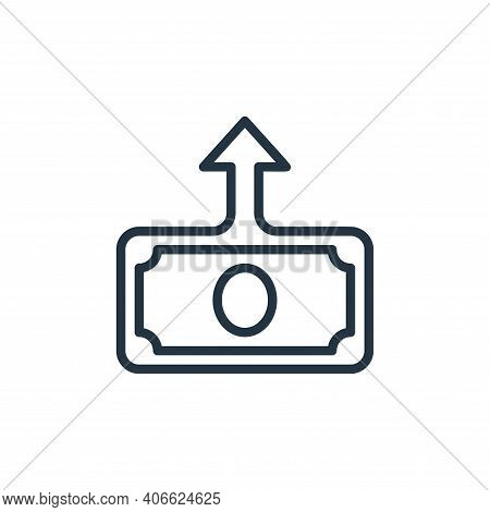 deposit icon isolated on white background from money collection. deposit icon thin line outline line