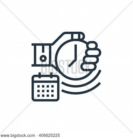 deadline icon isolated on white background from business risks collection. deadline icon thin line o