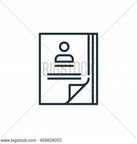 CV icon isolated on white background from management collection. CV icon thin line outline linear CV