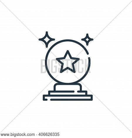 crystal ball icon isolated on white background from circus collection. crystal ball icon thin line o
