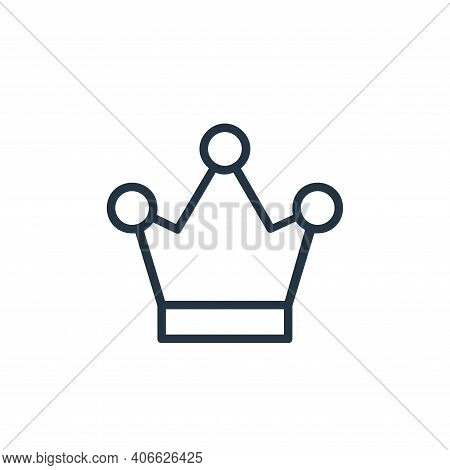 crown icon isolated on white background from chess game collection. crown icon thin line outline lin