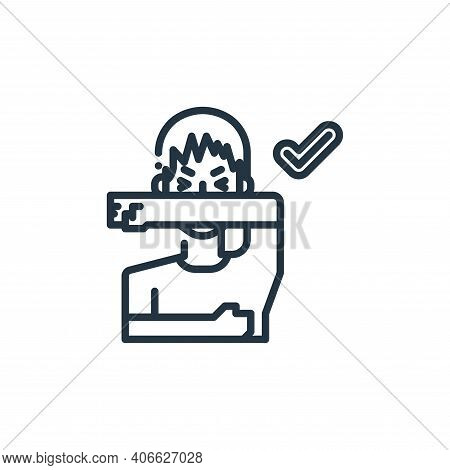 cough icon isolated on white background from virus transmission collection. cough icon thin line out