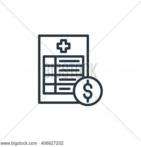 costs icon isolated on white background from coronavirus collection. costs icon thin line outline li