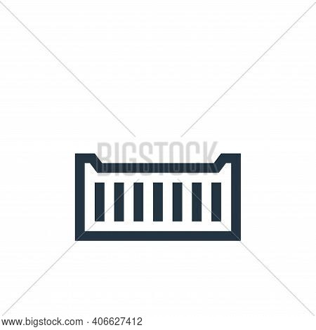 container icon isolated on white background from manufacturing collection. container icon thin line