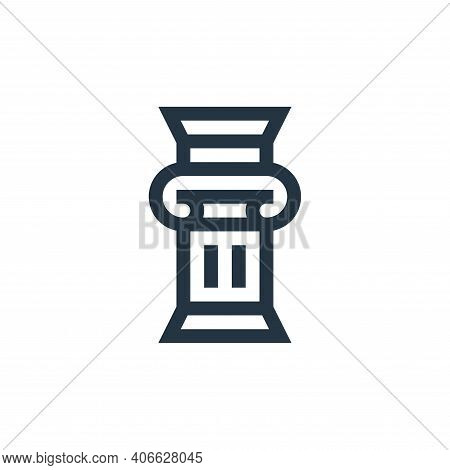 column icon isolated on white background from history collection. column icon thin line outline line