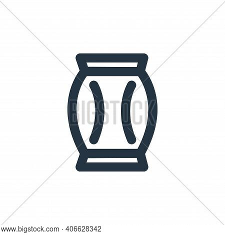 coffee bag icon isolated on white background from coffee collection. coffee bag icon thin line outli