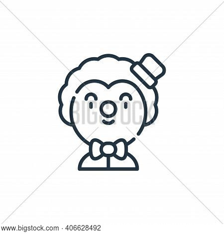 clown icon isolated on white background from circus collection. clown icon thin line outline linear