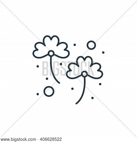 clover icon isolated on white background from saint patrick collection. clover icon thin line outlin