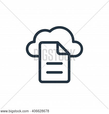 cloud icon isolated on white background from online learning collection. cloud icon thin line outlin