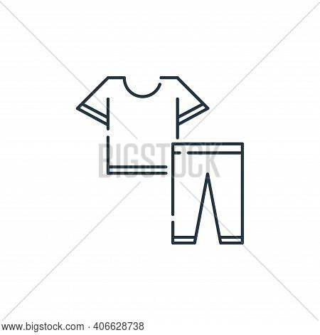 clothes icon isolated on white background from stay at home collection. clothes icon thin line outli