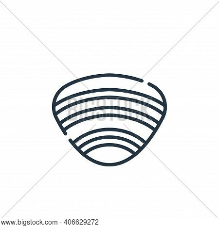 clam icon isolated on white background from allergies collection. clam icon thin line outline linear