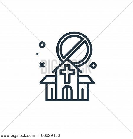 church icon isolated on white background from virus restrictions collection. church icon thin line o