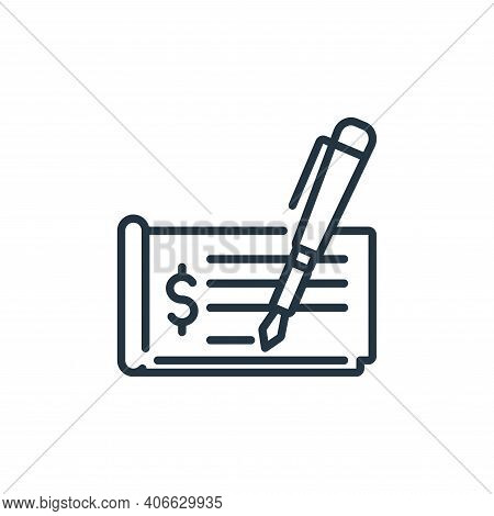 check sign icon isolated on white background from banking and money collection. check sign icon thin
