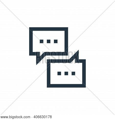 chat icon isolated on white background from job resume collection. chat icon thin line outline linea