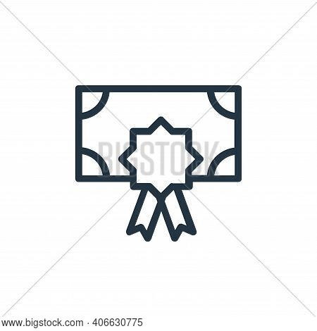 certificate icon isolated on white background from banking and finance flat icons collection. certif
