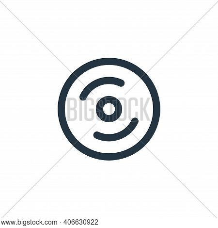 cd burning icon isolated on white background from holiday collection. cd burning icon thin line outl