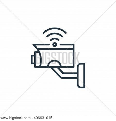 cctv camera icon isolated on white background from internet of things collection. cctv camera icon t