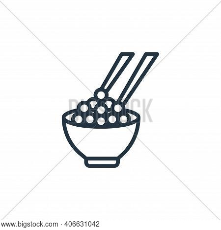 caviar icon isolated on white background from seafood collection. caviar icon thin line outline line
