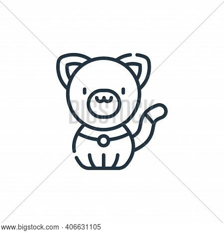 cat icon isolated on white background from animal welfare collection. cat icon thin line outline lin