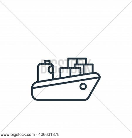 cargo ship icon isolated on white background from shipping and delivery collection. cargo ship icon