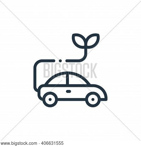 car icon isolated on white background from ecology collection. car icon thin line outline linear car