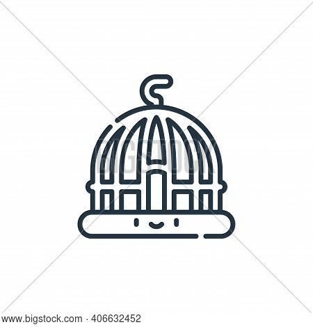 cage icon isolated on white background from pets collection. cage icon thin line outline linear cage