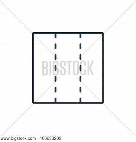 brochure icon isolated on white background from stationery collection. brochure icon thin line outli