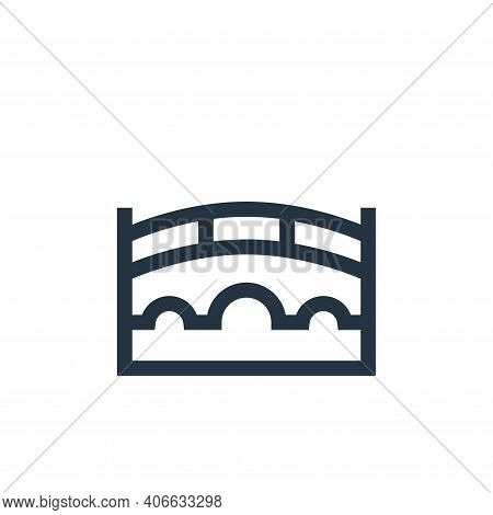 bridge icon isolated on white background from holland collection. bridge icon thin line outline line