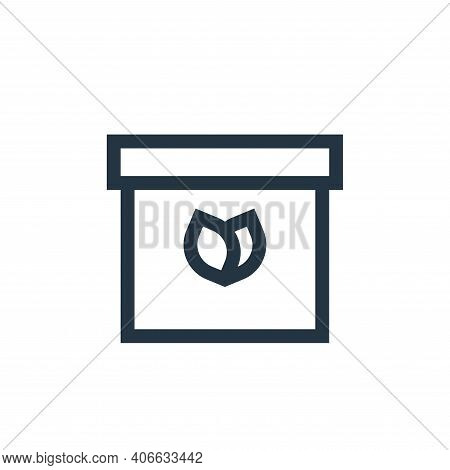 box icon isolated on white background from vegan collection. box icon thin line outline linear box s