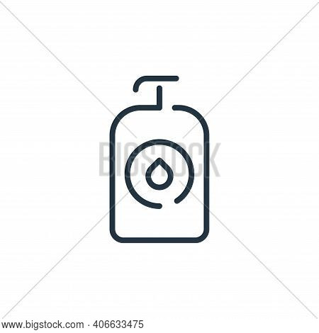 bottle icon isolated on white background from coronavirus collection. bottle icon thin line outline