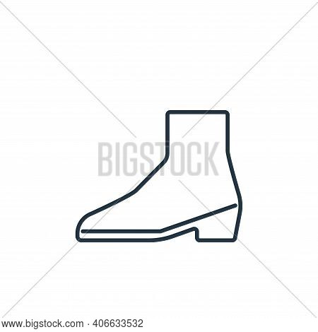 boot icon isolated on white background from clothes and outfit collection. boot icon thin line outli
