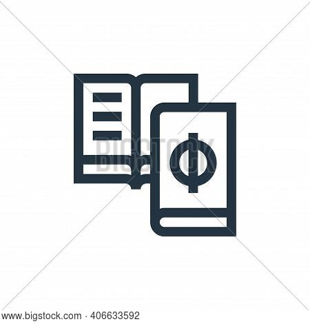 book icon isolated on white background from mental health collection. book icon thin line outline li