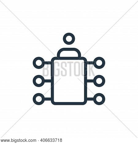 board icon isolated on white background from work office and meeting collection. board icon thin lin